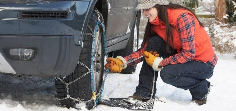 Snežne verige morajo biti popolnoma enakih dimenzij, kot so kolesa vozila